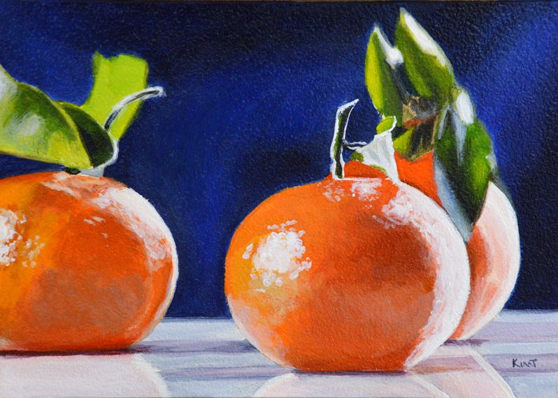 """Tangerine Light and Color Study"" original fine art by Kim Testone"