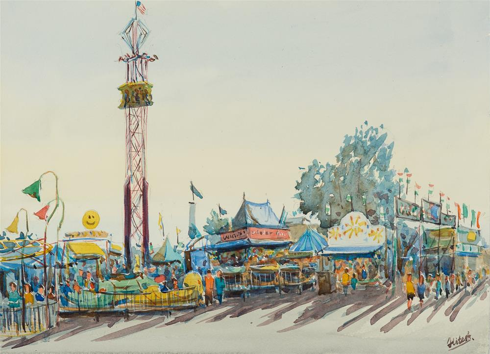 """State Fair #3"" original fine art by Tesh Parekh"