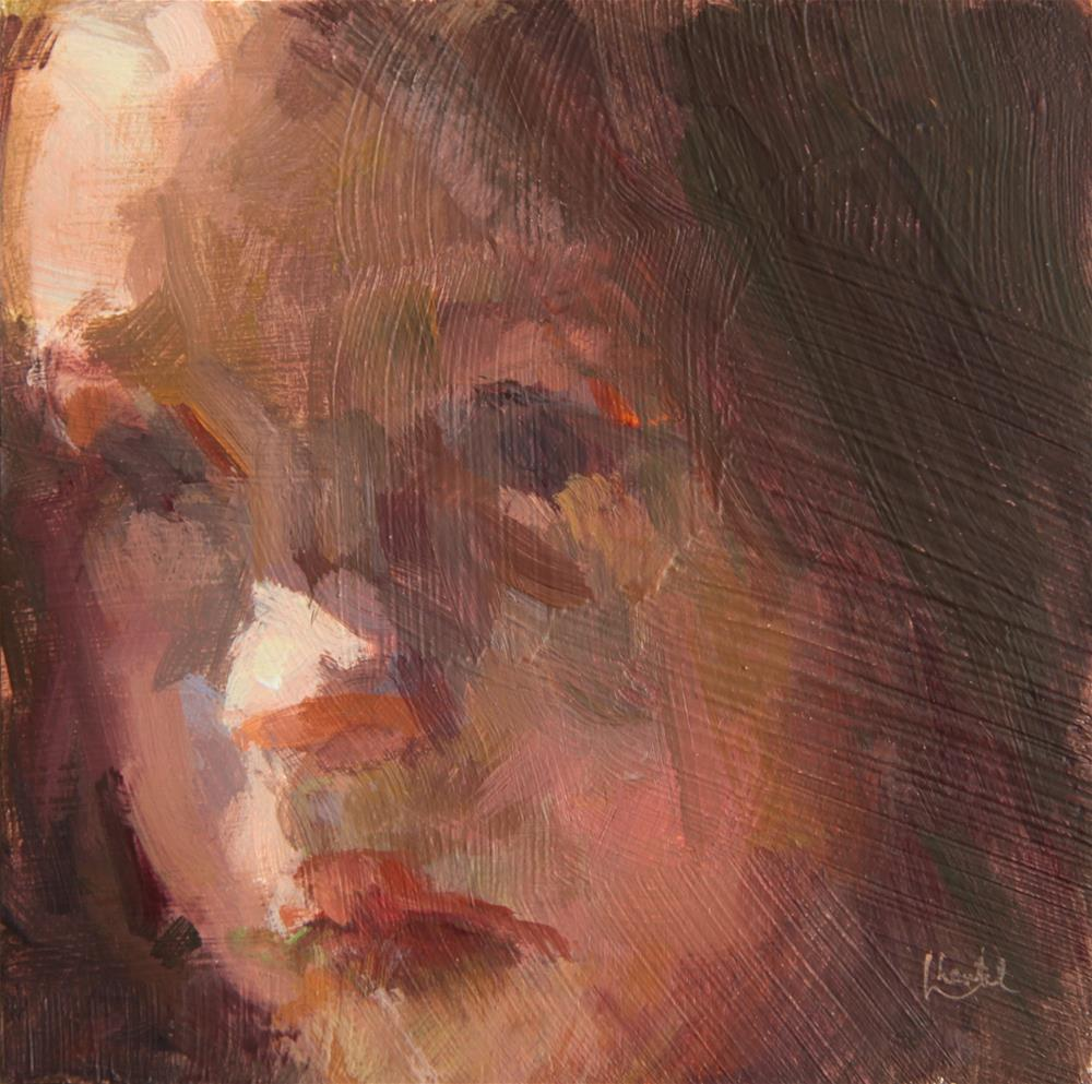 """Pensive"" original fine art by Chantel Barber"