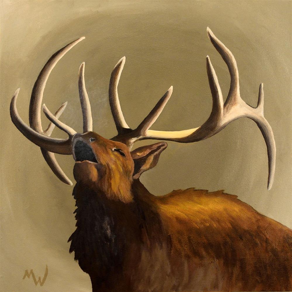 """""""Elk Bugle"""" original fine art by Michelle Wolfe"""