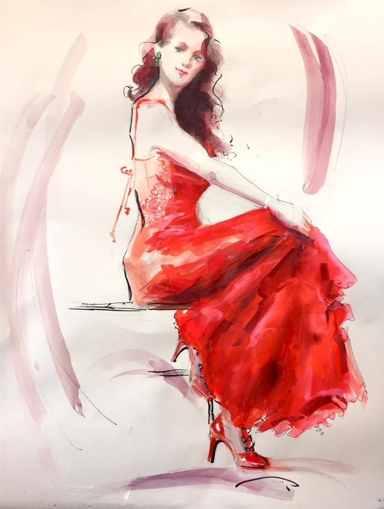 """""""Campari"""" original fine art by Johanna Spinks"""