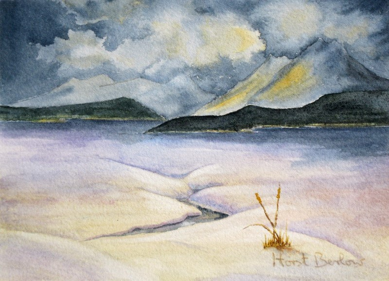 """April in Moose Arm"" original fine art by Horst Berlow"