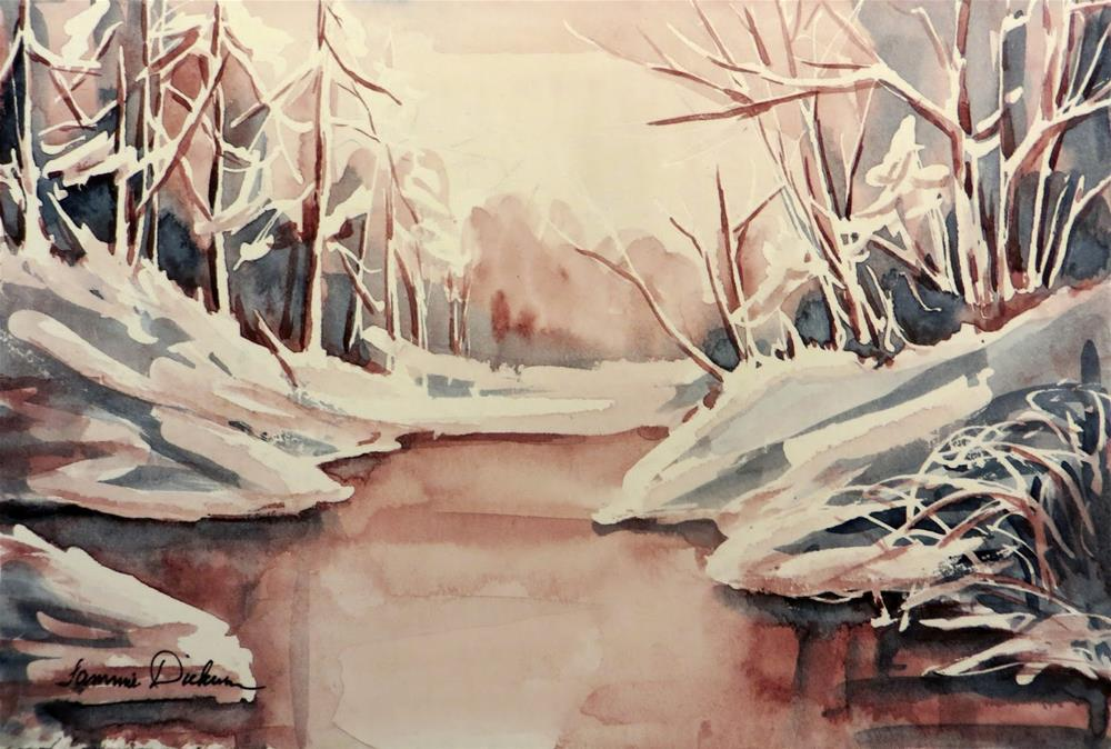 """Warmth on Winter Snow"" original fine art by Tammie Dickerson"