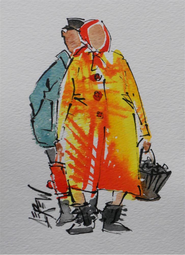 """""""Serendipity Blot Figure #140203 by Larry Lerew"""" original fine art by Larry Lerew"""
