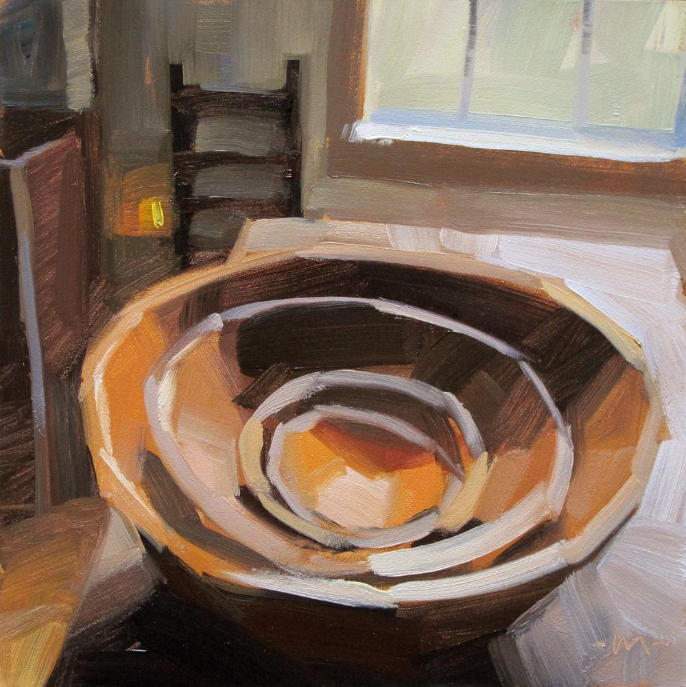 """Nested Bowls"" original fine art by Carol Marine"