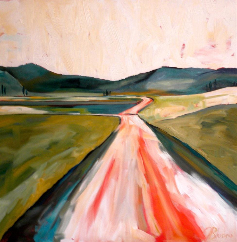 """""""On The Road Again"""" original fine art by Janet Bludau"""