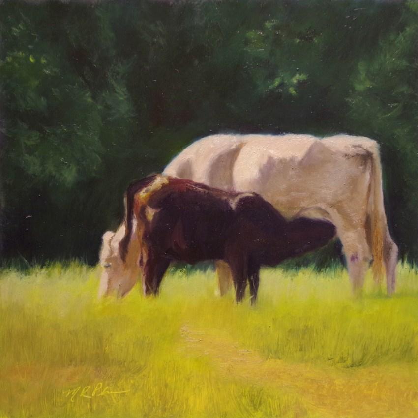 """""""Cow Poke"""" original fine art by Marilyn R. Place"""