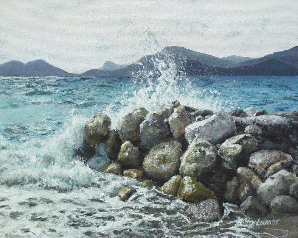 """Seaside"" original fine art by Anna Starkova"