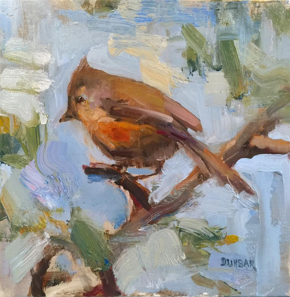 """A Titmouse Study"" original fine art by Linda Dunbar"