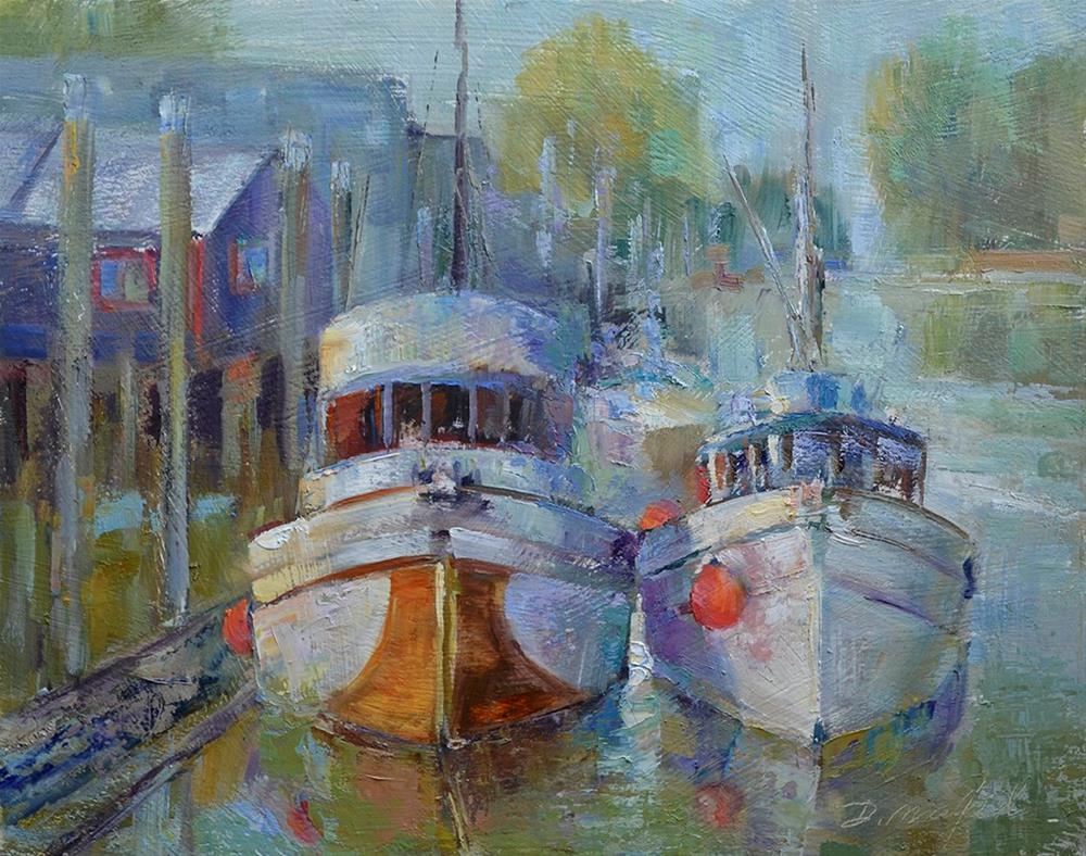 """Ladner Boats"" original fine art by Denise Maxwell"