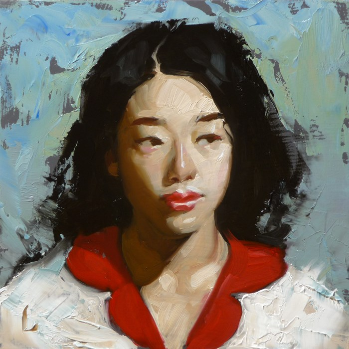 """Red Petals"" original fine art by John Larriva"