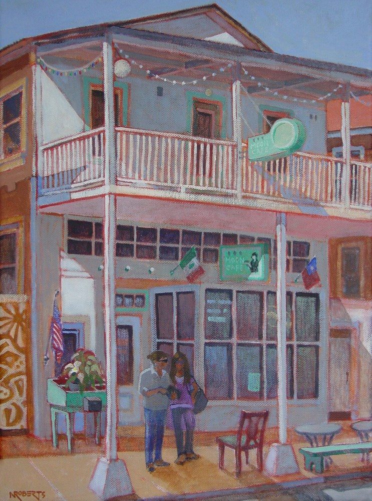 """Moon Cafe, Locke"" original fine art by Nancy Roberts"