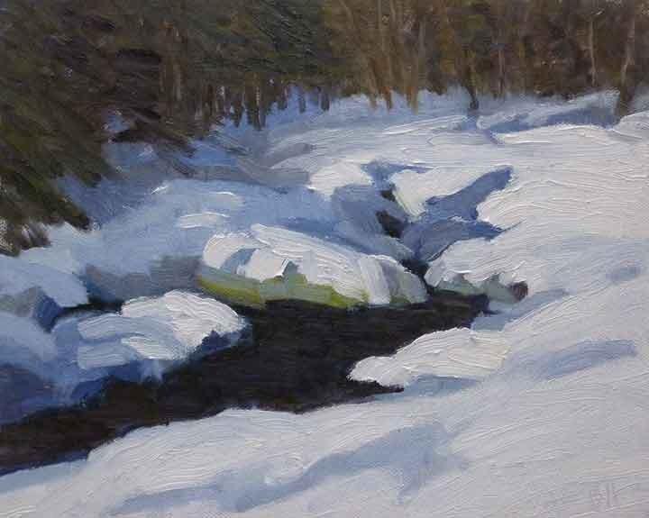 """""""Spring Thaw"""" original fine art by Bobbi Heath"""