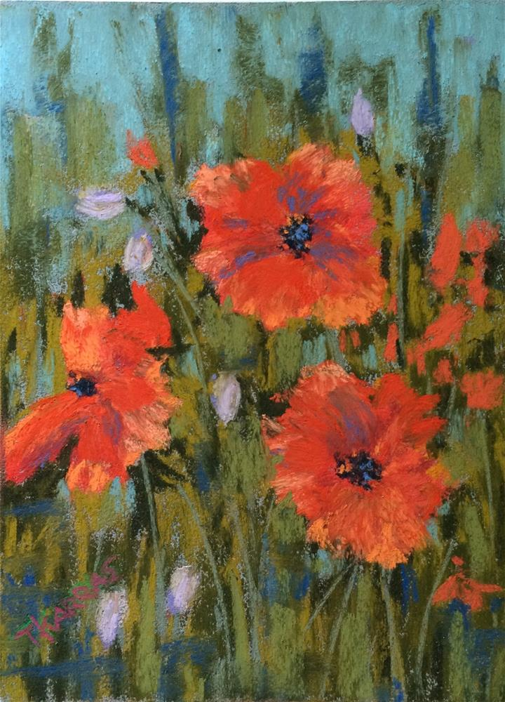 """Poppies"" original fine art by Christina Karras"