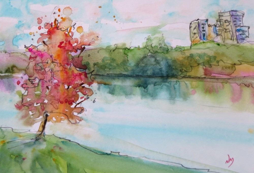 """""""come on over"""" original fine art by Nora MacPhail"""