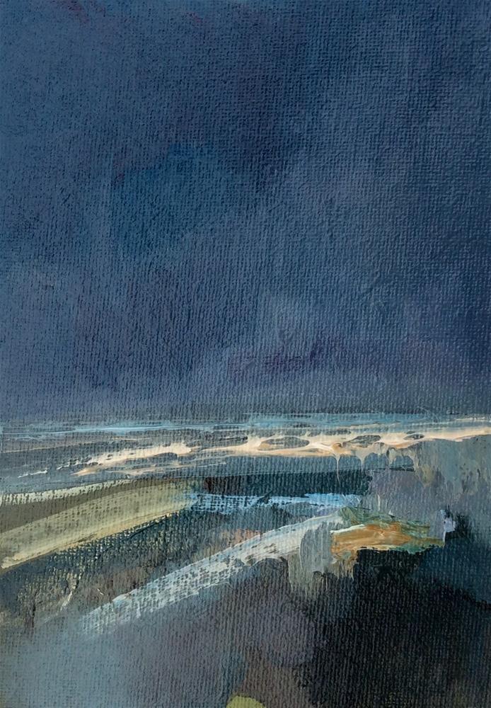 """""""Downpour"""" original fine art by Anne Wood"""