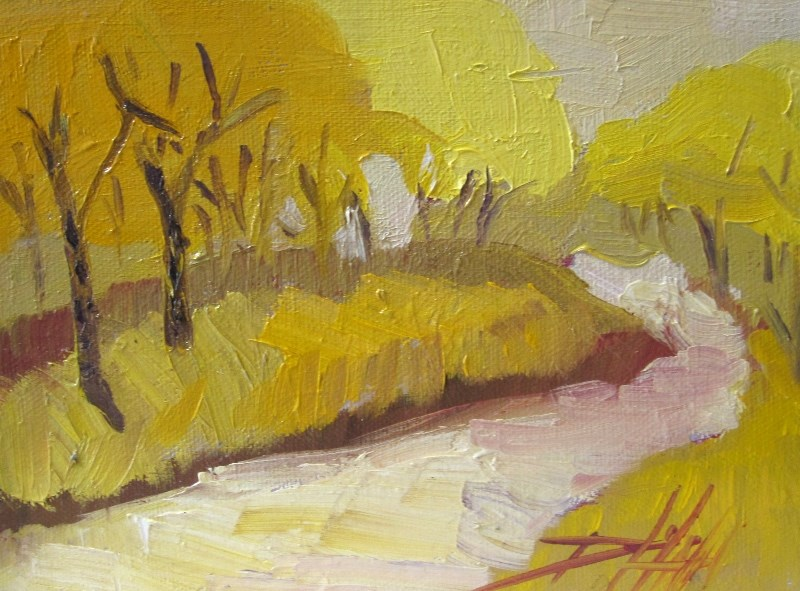 """Fall Color Landscape"" original fine art by Delilah Smith"