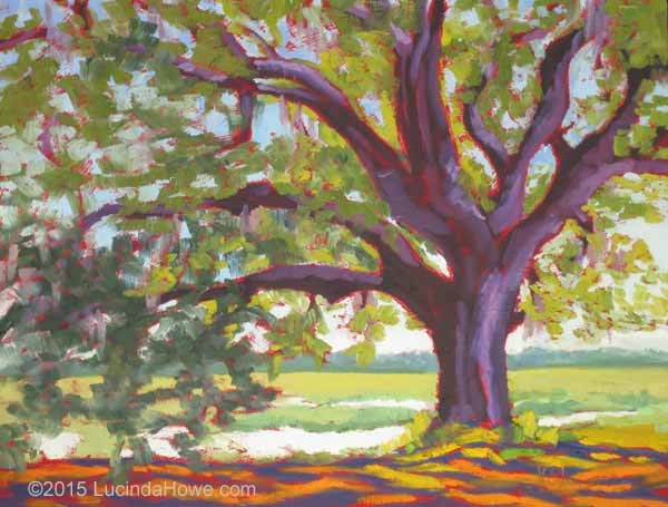 """Ancient Oak"" original fine art by Lucinda Howe"