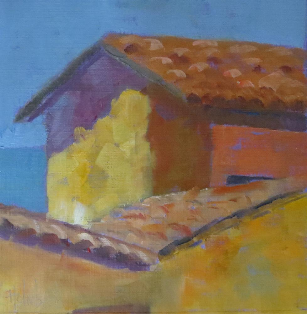 """Mexican Roof"" original fine art by Pam Holnback"