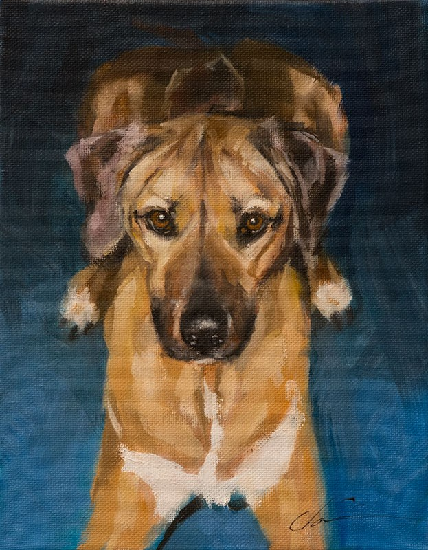 """Kizzy Commission"" original fine art by Clair Hartmann"
