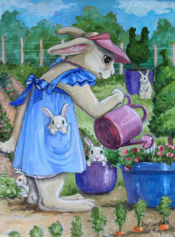 """A Bunny's Garden"" original fine art by Joy Campbell"