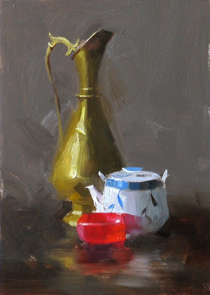 """Three AAU Props"" original fine art by Qiang Huang"