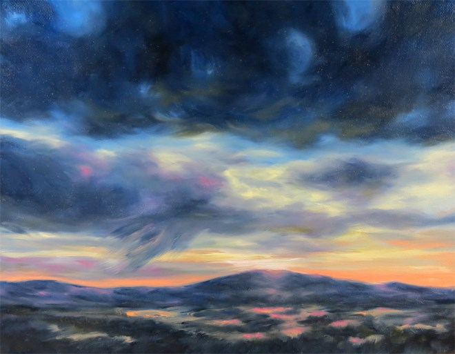 """Morning Squall"" original fine art by Carol Zirkle"