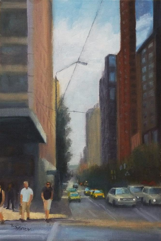 """Citylife"" original fine art by Michael Sason"
