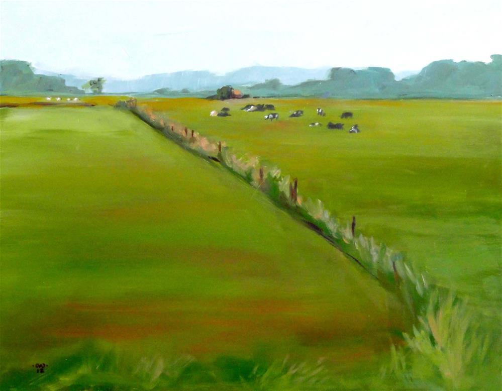 """""""Farmland, Cannibal Island Road"""" original fine art by Cietha Wilson"""