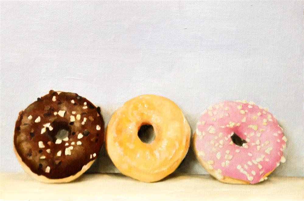 """Three Doughnuts"" original fine art by James Coates"