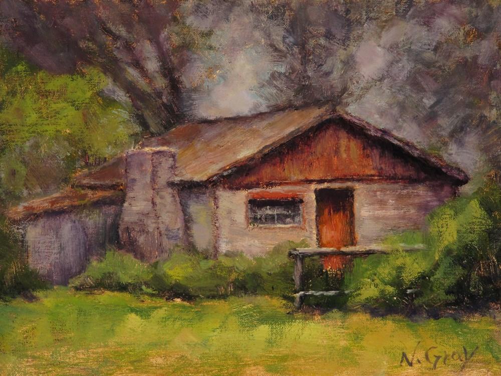 """Olmstead Cabin"" original fine art by Naomi Gray"