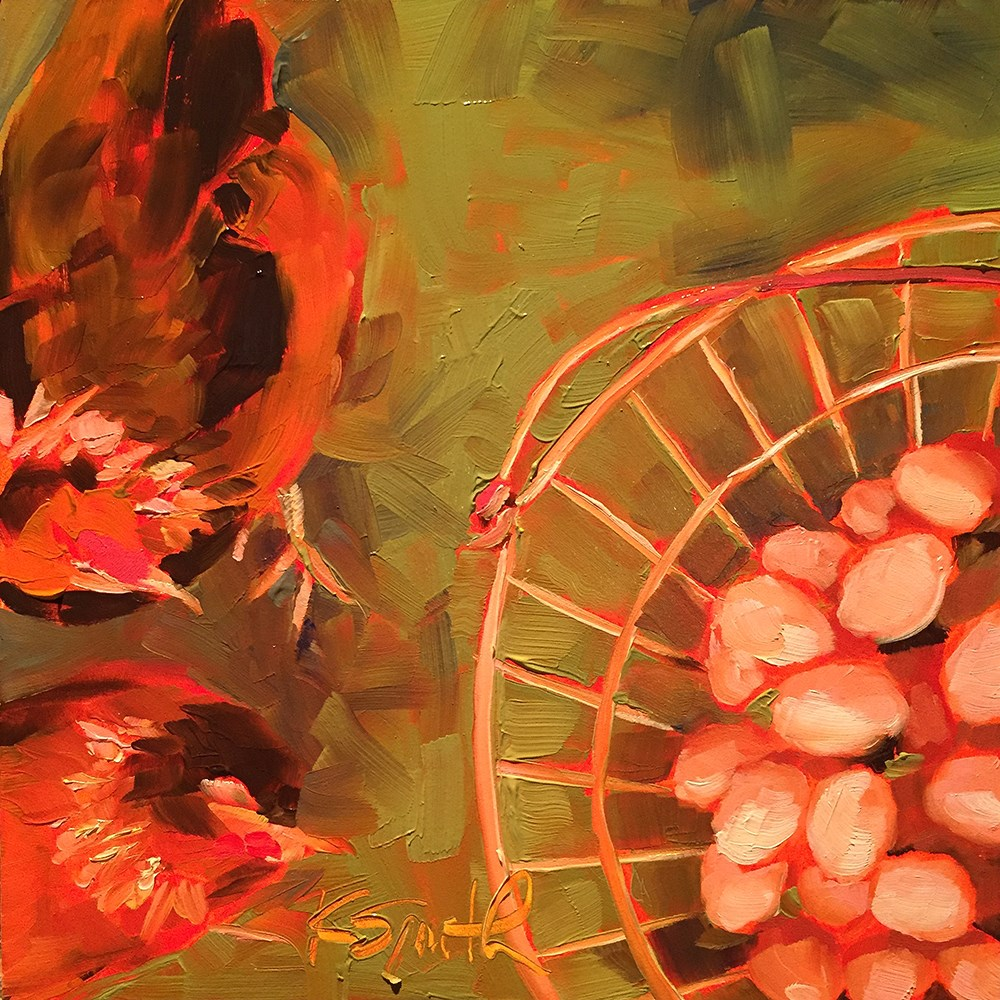 """go ahead, put all your eggs in one basket!"" original fine art by Kim Smith"