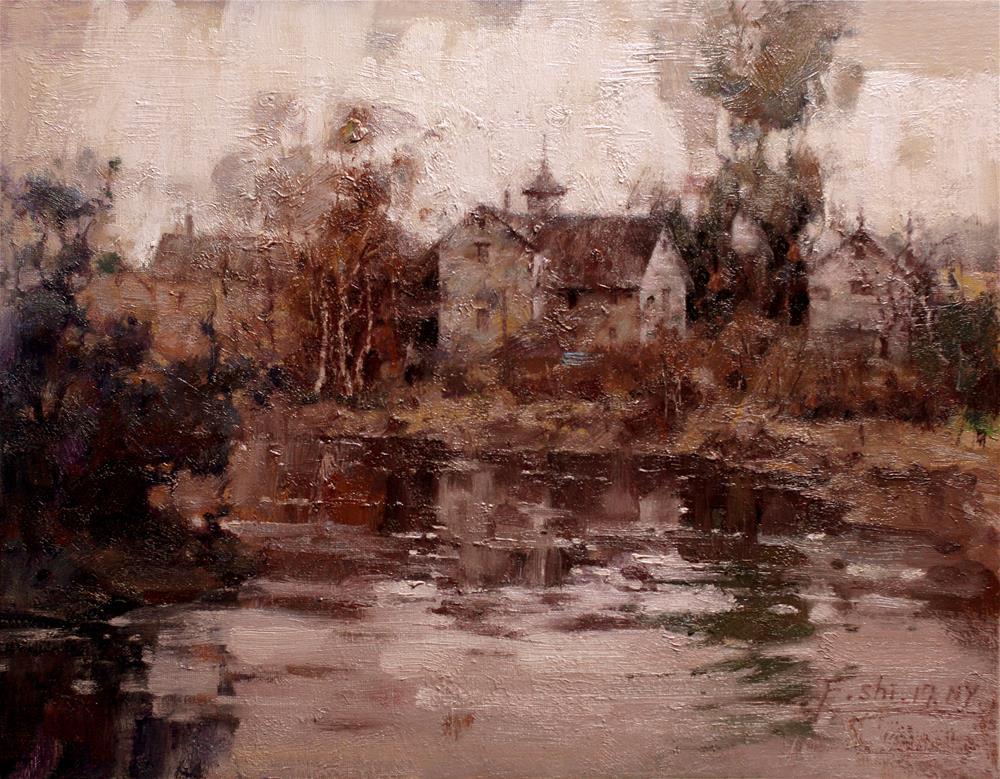 """Landscape(11)"" original fine art by fengshi jin"