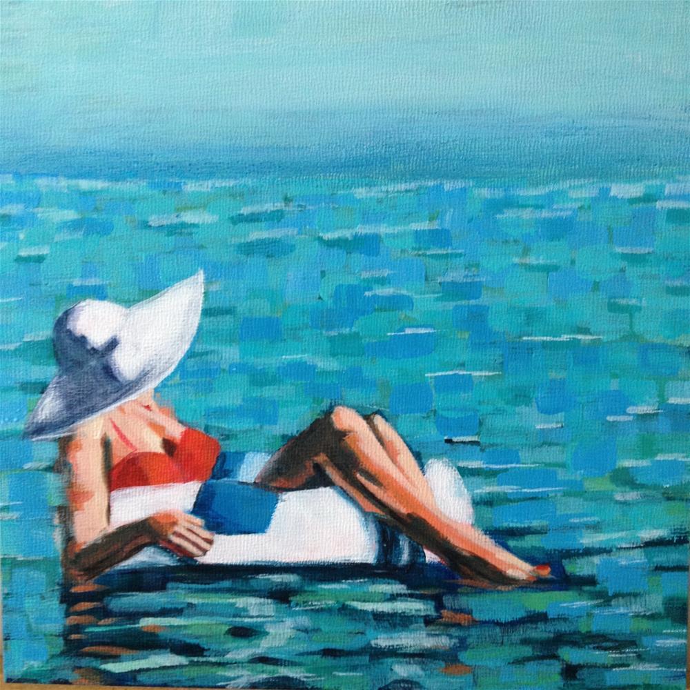 """Lounging Lady"" original fine art by Bev Thibault"