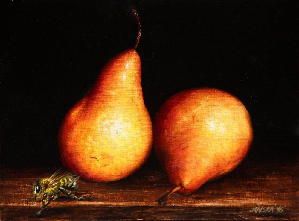 """Pears"" original fine art by Bozena Janska"