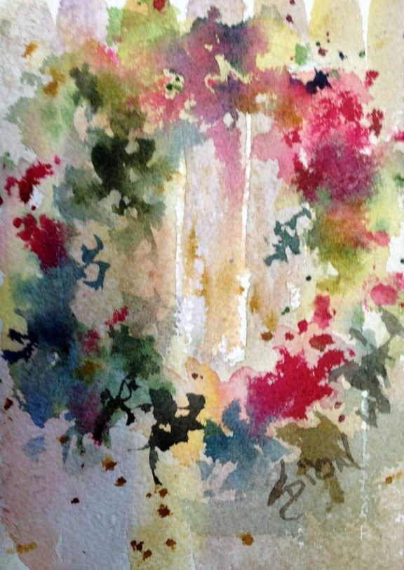 """Kissin' by the Mistletoe"" original fine art by Sue Dion"