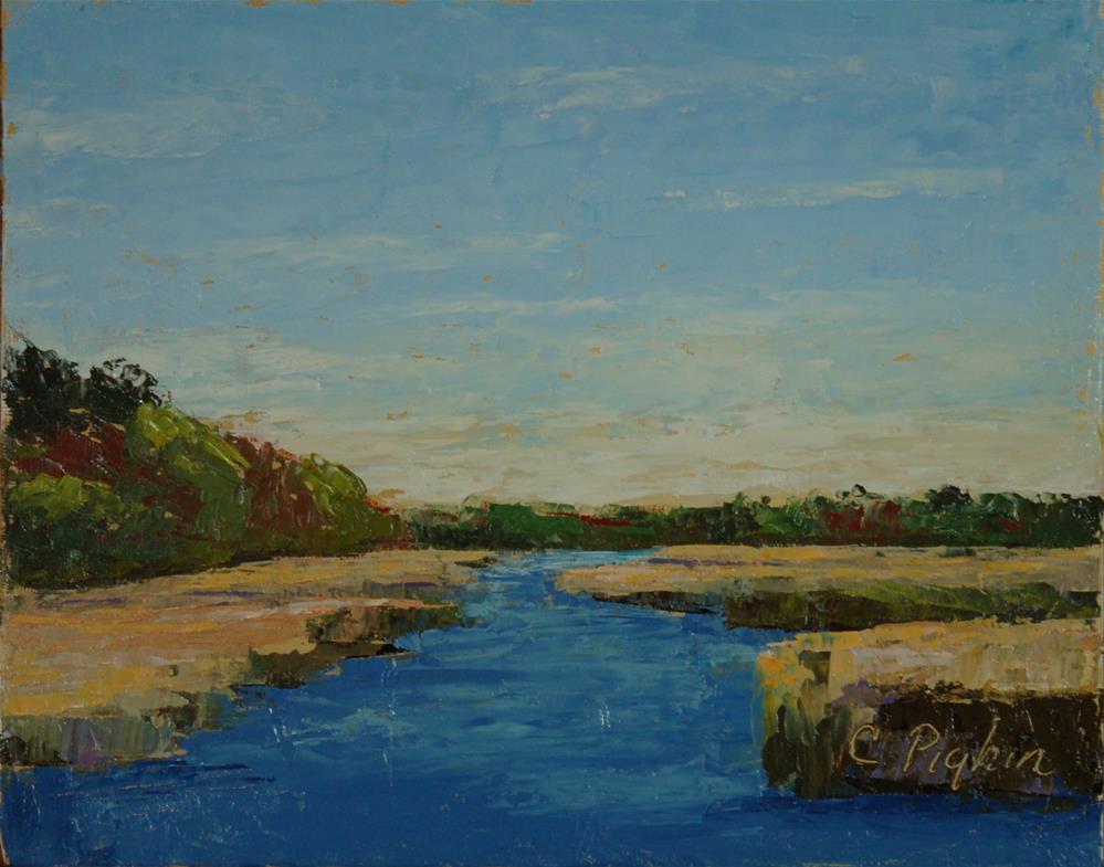 """Cape Cod Marsh"" original fine art by Carol Pighin"