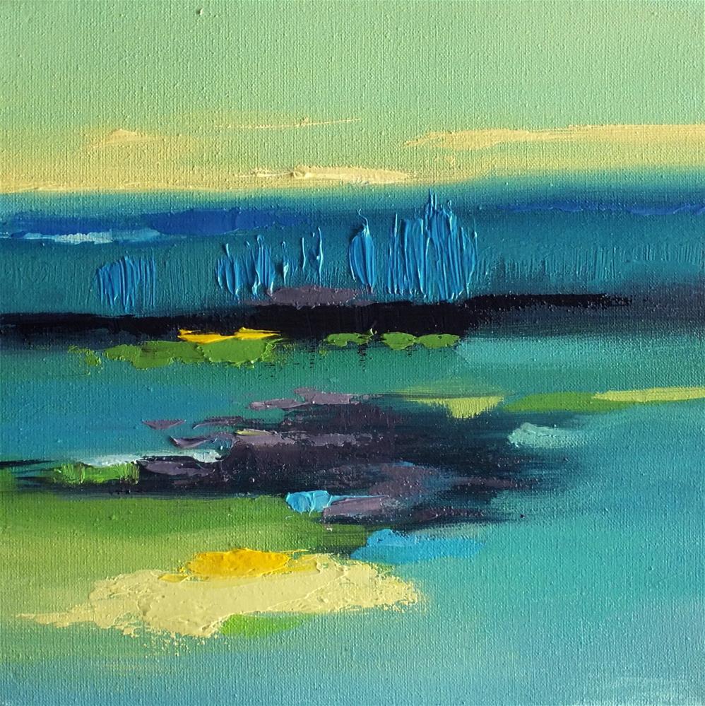 """Landscape 293"" original fine art by Ewa Kunicka"