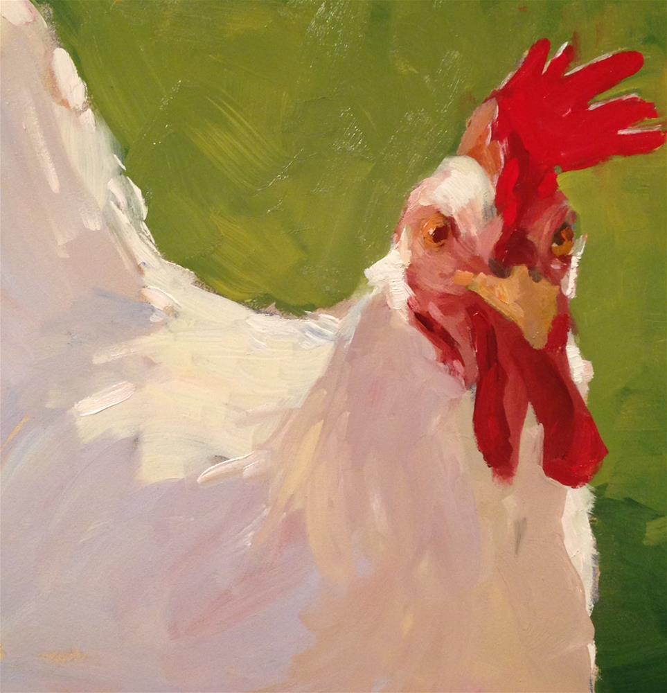 """Summer Chicken"" original fine art by Patty Voje"