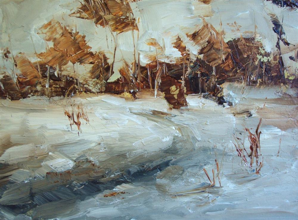 """frozen water"" original fine art by Parastoo Ganjei"