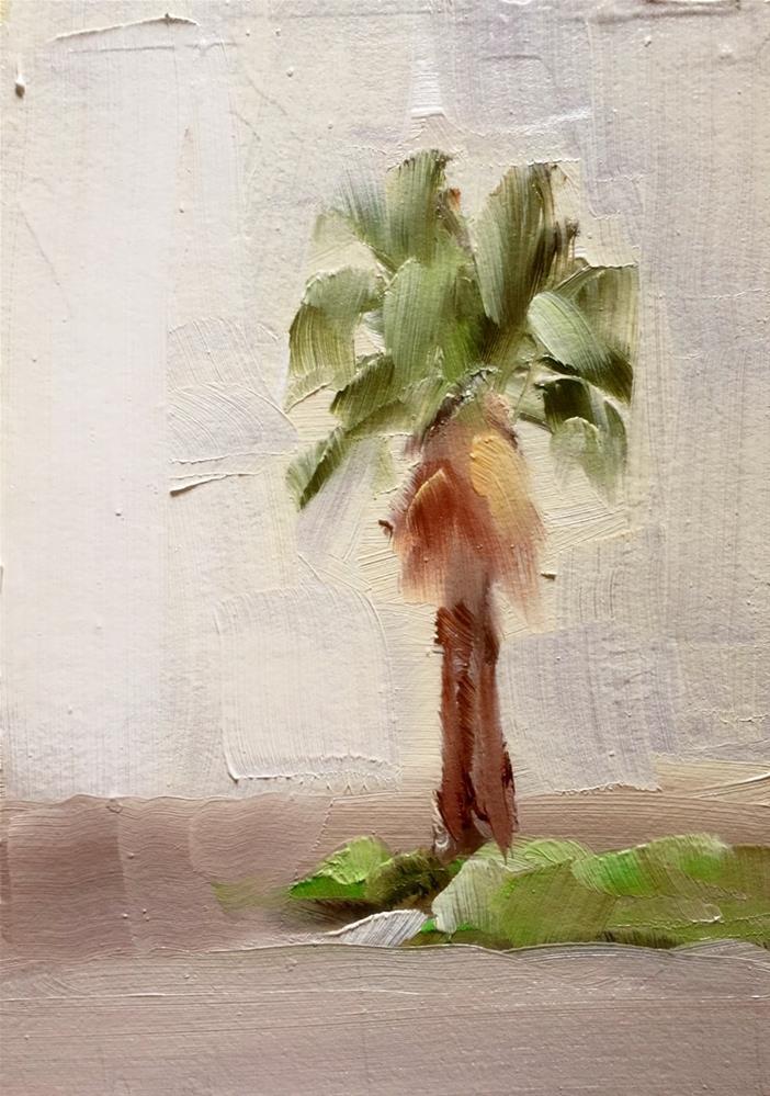 """Palm Tree Plein Air"" original fine art by Gary Bruton"