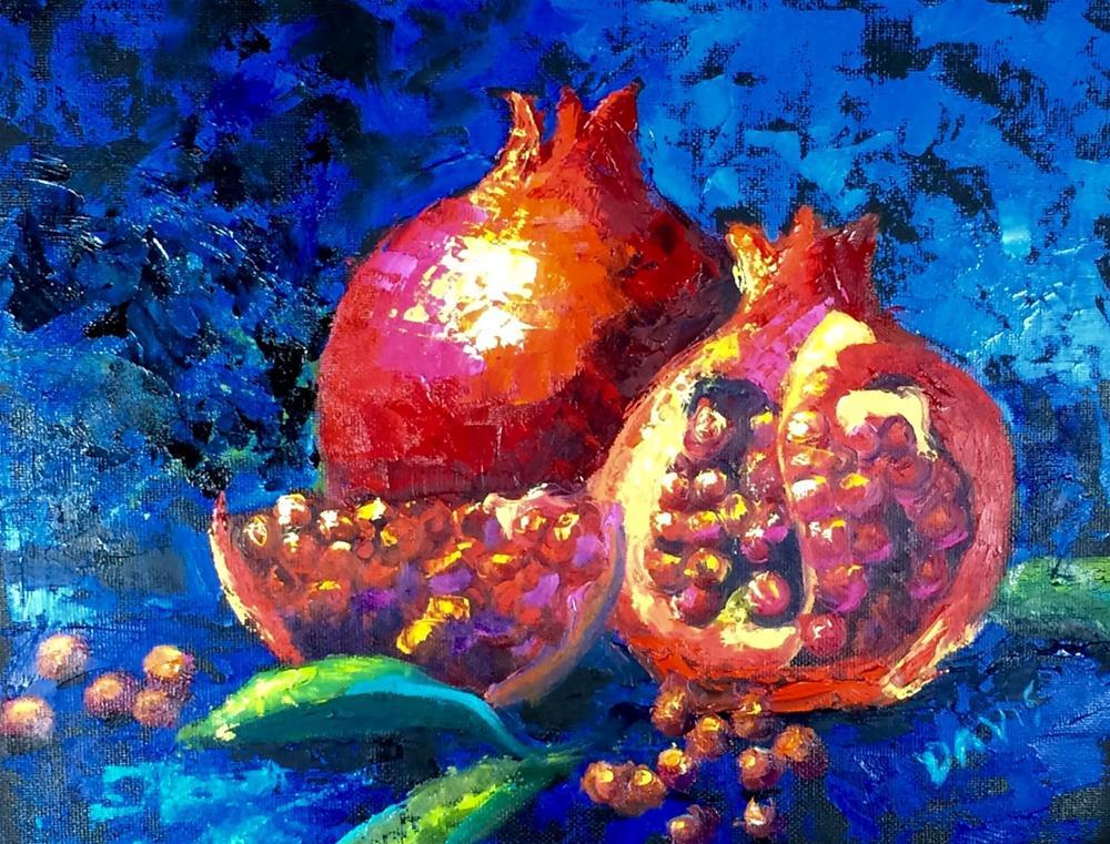 """Seeds of the fruit"" original fine art by Phyllis Davis"