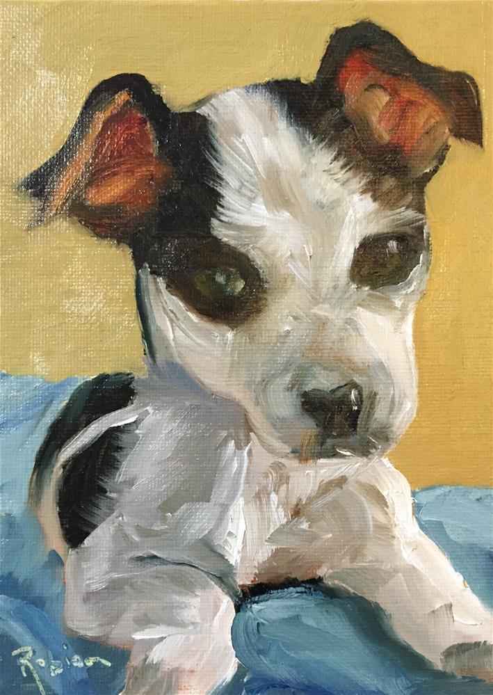 """""""Puppy Selfie #3"""" original fine art by Renee Robison"""