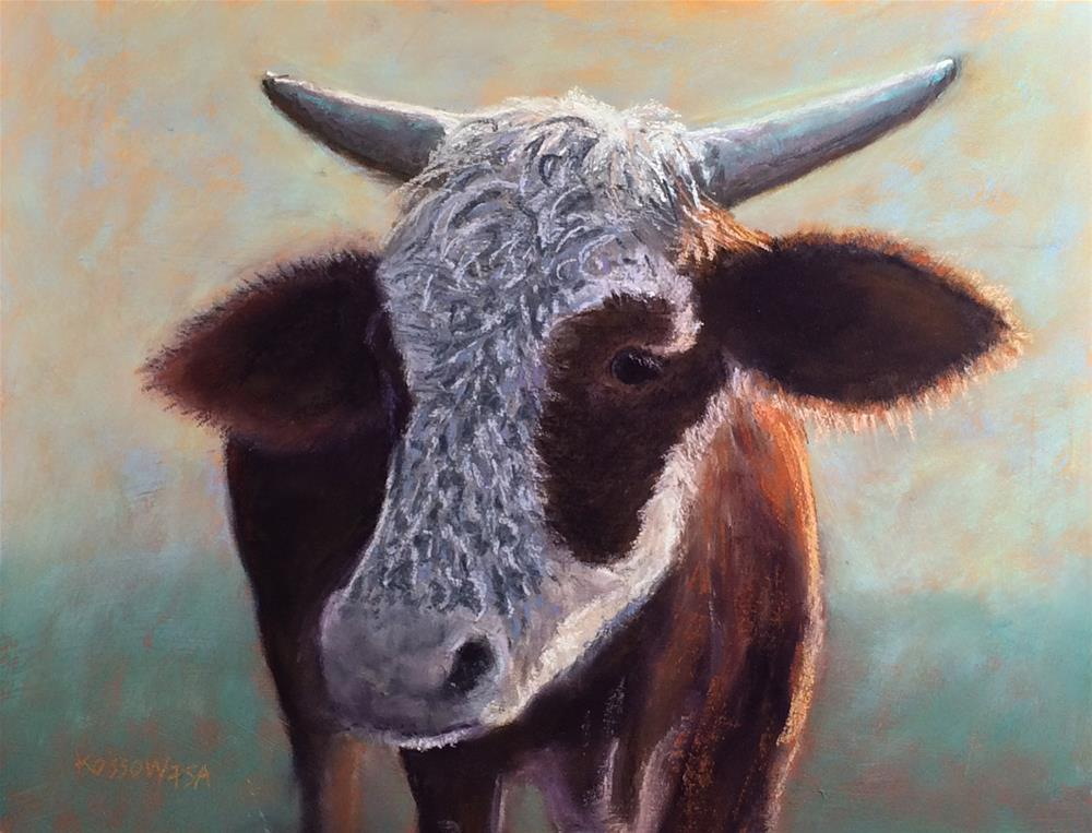"""Freckle Face"" original fine art by Cristine Kossow"