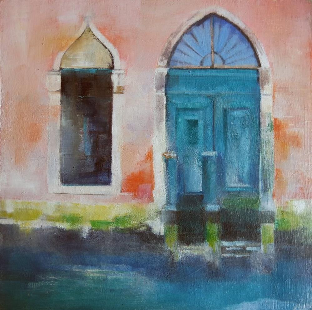 """Venice in winter"" original fine art by Cathy Holtom"