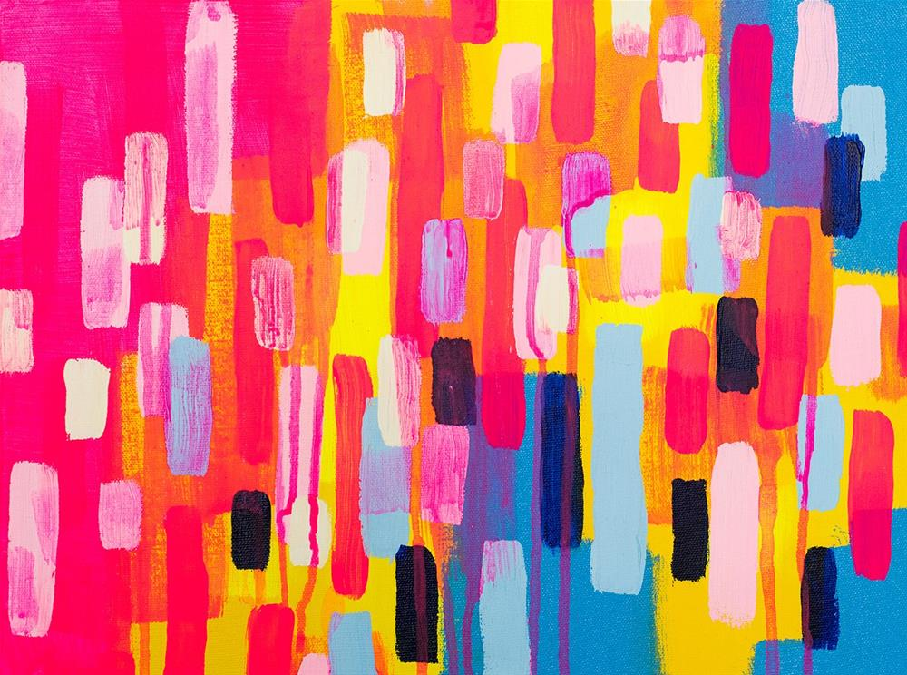 """Neon Cities"" original fine art by Franziska Schwade"