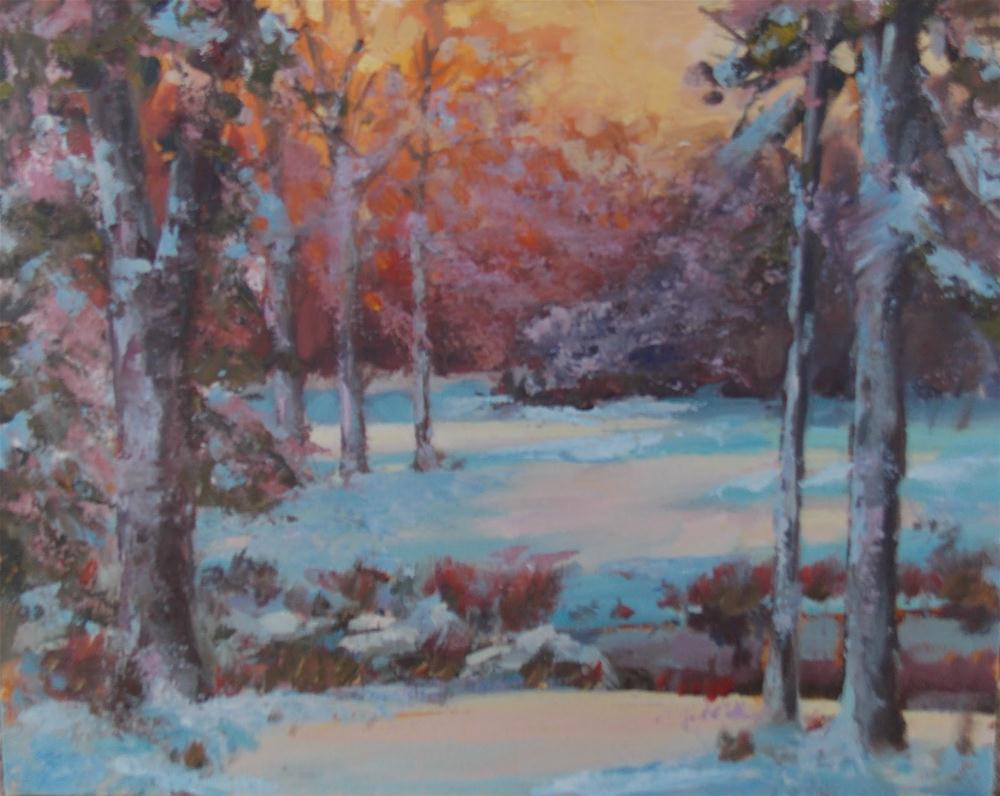 """ THE LAST SNOW "" original fine art by Doug Carter"