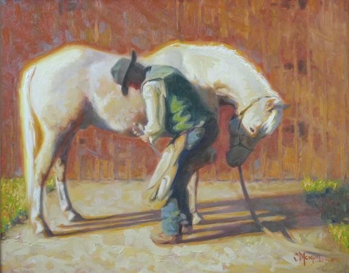 """""""Pedicure"""" original fine art by Cecile W. Morgan"""