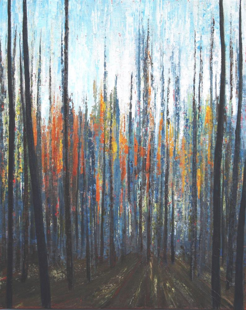"""Sunrise Deep Woods"" original fine art by Sage Mountain"