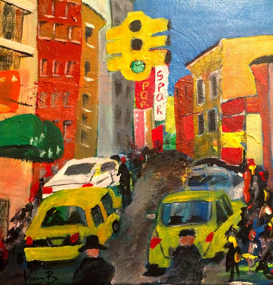"""Taxi!"" original fine art by Kimberly Balentine"